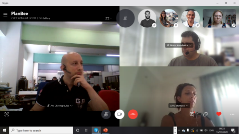 Screenshot from the first project meeting